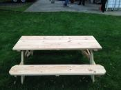 Click to enlarge image Picnic Table - Shown: 6ft pressure treated