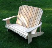Click to enlarge image Adirondack Loveseat 44`` Seat Width - Designed for love birds with room for two to curl up in!
