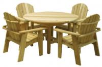 Click to enlarge image Garden 46`` Round Table - Will accommodate four Garden Chairs